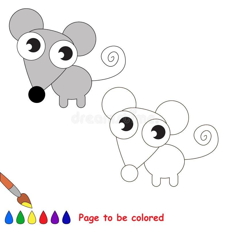 Souris dans la bande dessinée de vecteur à colorer illustration de vecteur