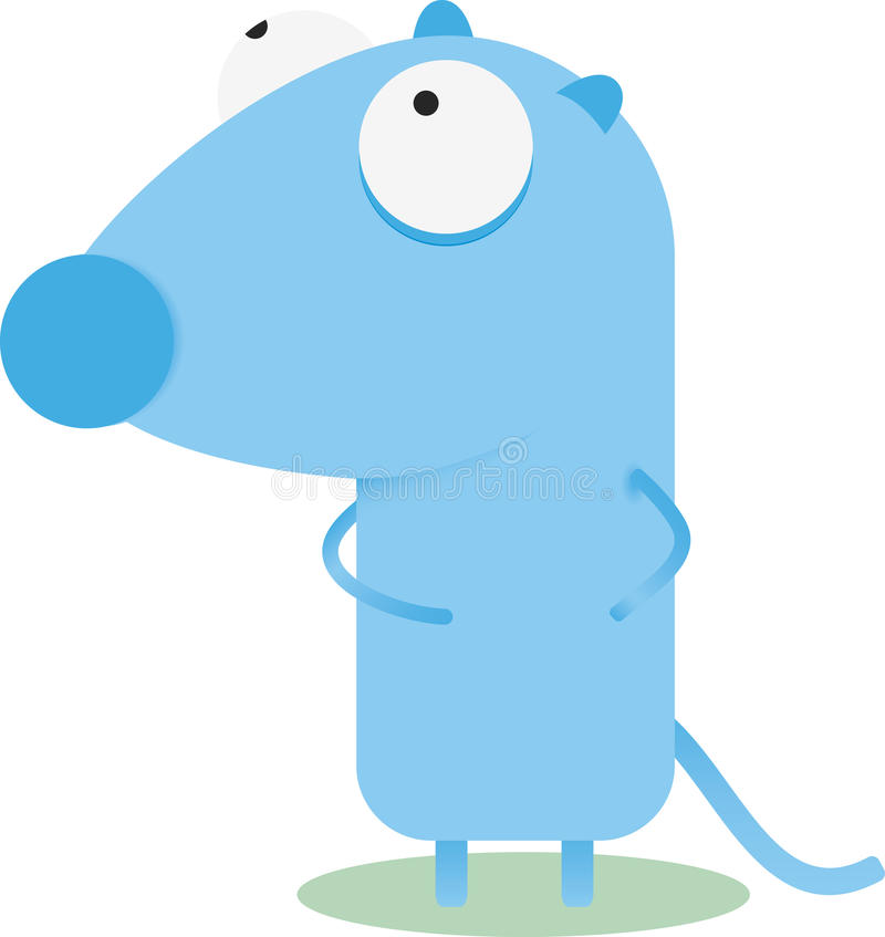 Souris de bleu de dessin animé illustration stock