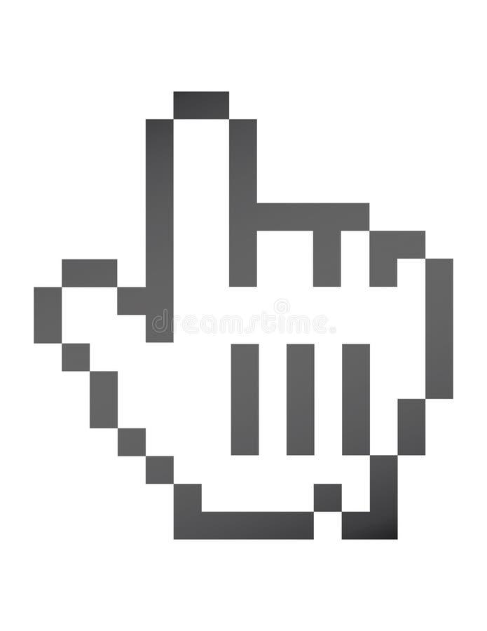 souris de graphisme de main illustration de vecteur