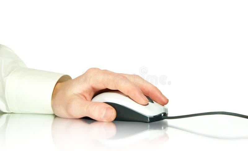 souris de main d'ordinateur images libres de droits