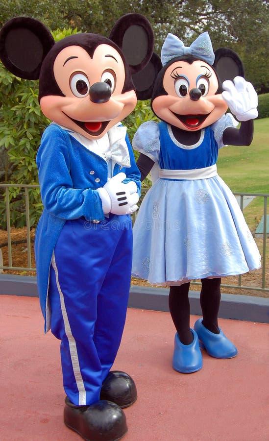 Souris de Mickey et de Minnie en monde de Disney photo stock