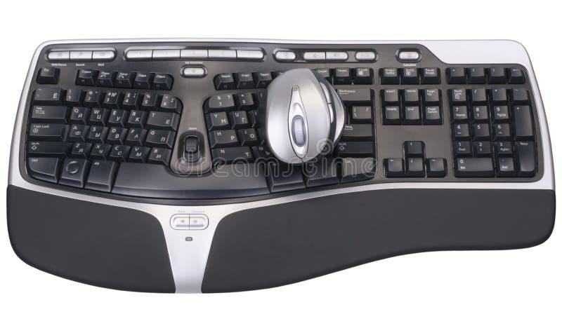 Souris et clavier d'ordinateur photographie stock libre de droits