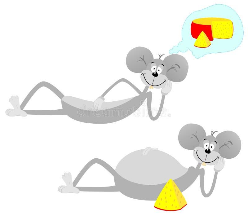Souris et fromage illustration de vecteur