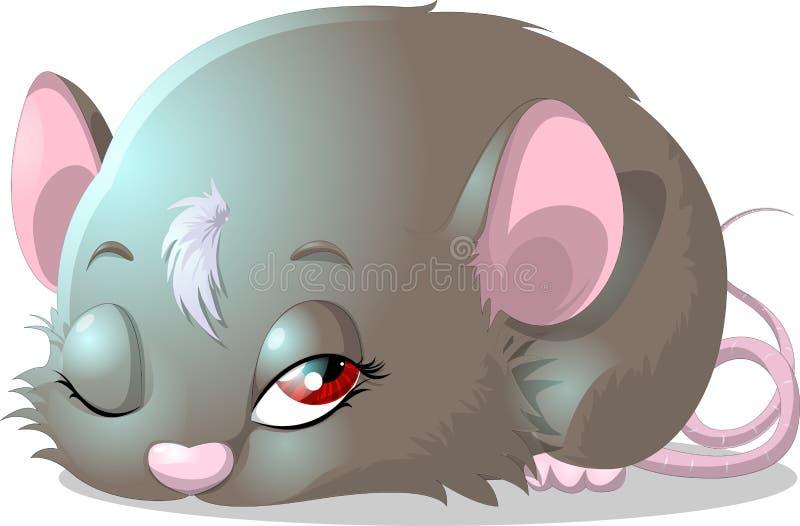 Souris grise illustration de vecteur
