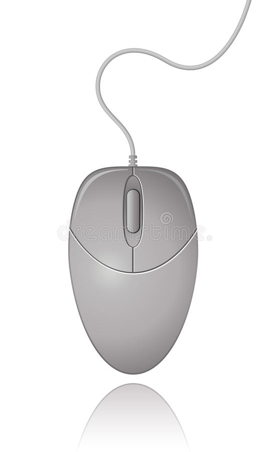 Souris grise d'ordinateur illustration stock