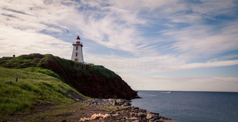 Souris-Leuchtturm, Prinz Edward Island, Kanada stockbild