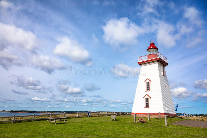 Souris Lighthouse on Prince Edward Island. Souris Lighthouse on the Northumberland Strait, Prince Edward Island, Canada royalty free stock photo