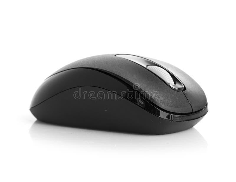 Souris noire d'ordinateur sur le fond blanc photo libre de droits
