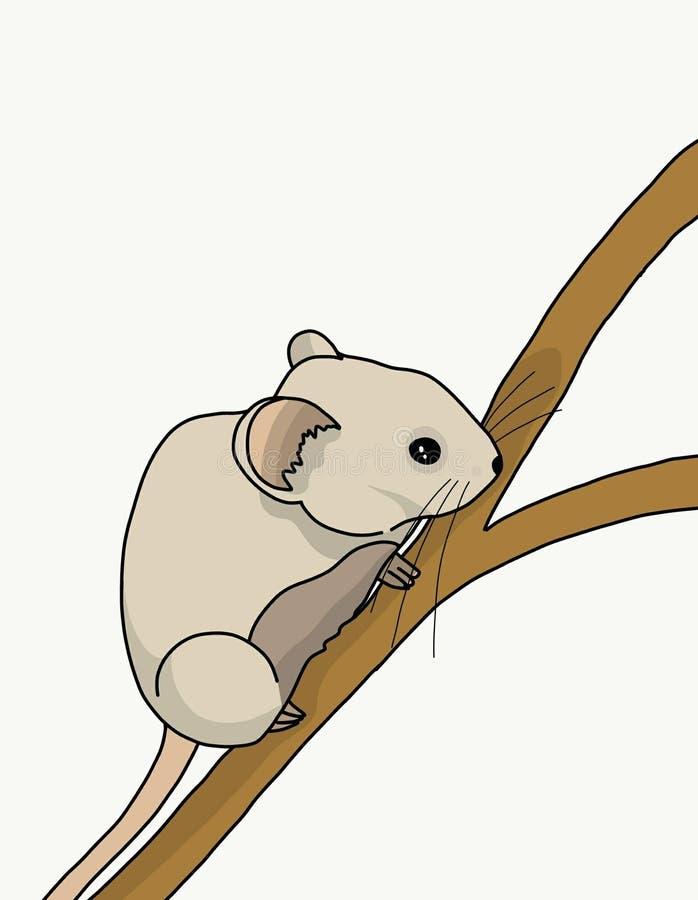 Souris sur un arbre illustration libre de droits
