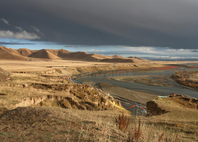Sourse van de gele rivier stock foto's