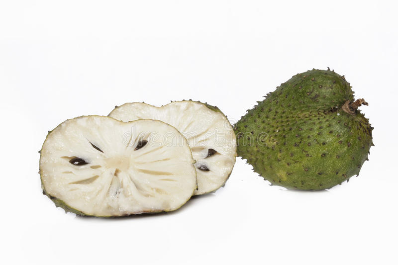 Soursop Fruit And Cuts Royalty Free Stock Images