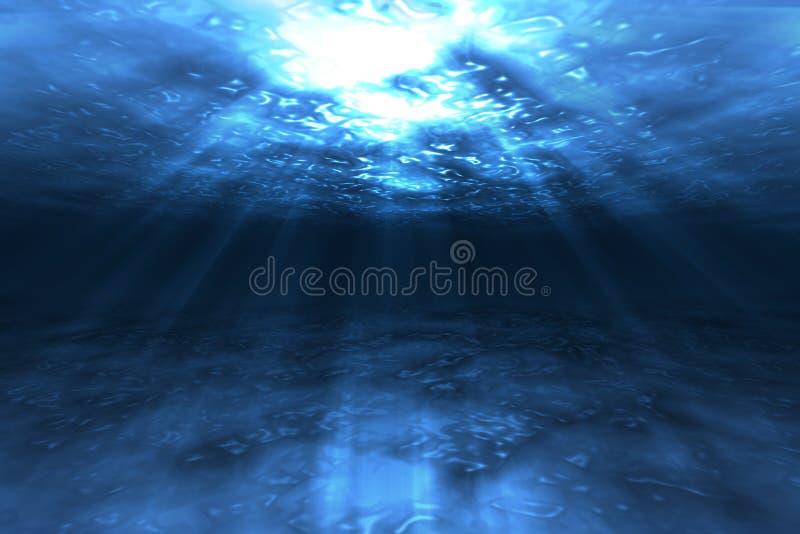 sous l'eau illustration stock
