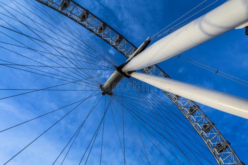 Sous l'oeil de Londres image libre de droits