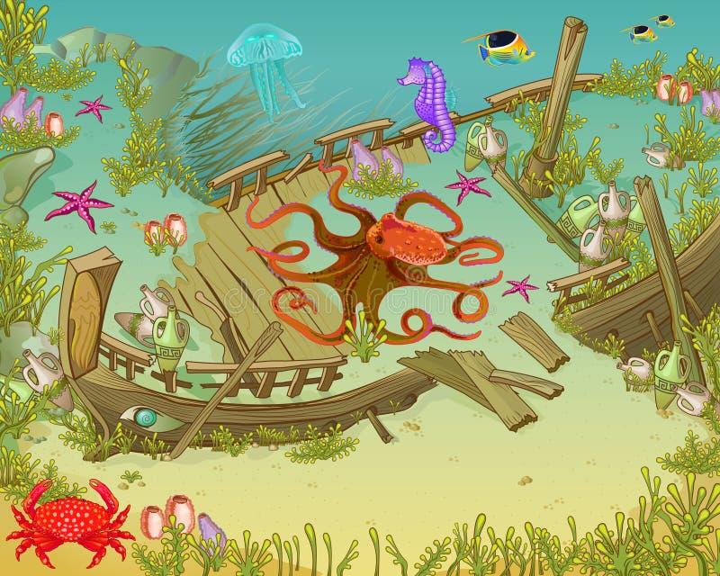 Sous la mer illustration de vecteur