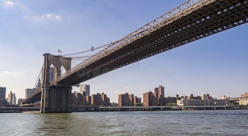Sous la passerelle de Brooklyn image stock