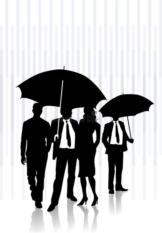 Sous la pluie illustration de vecteur