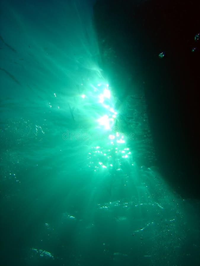Sous le bateau images libres de droits