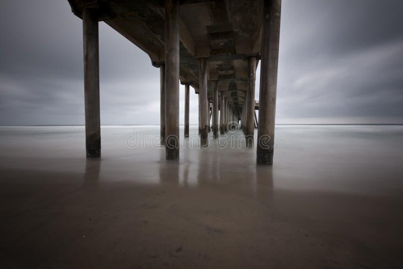 Sous le pilier de Huntington Beach photographie stock libre de droits