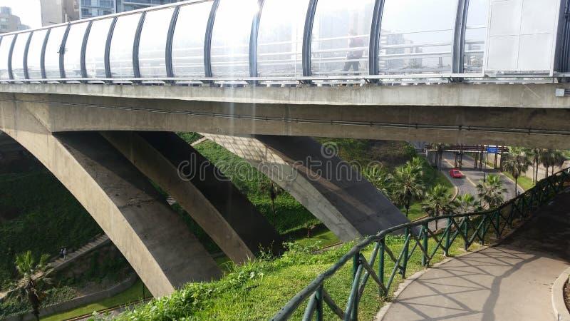 Sous le pont image stock