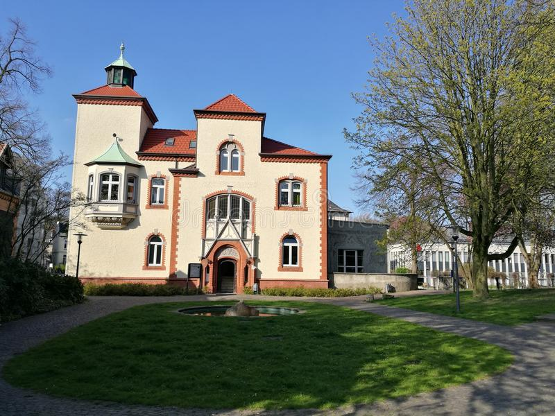 Sous le ` s Sun de ville de Recklinghausen photographie stock