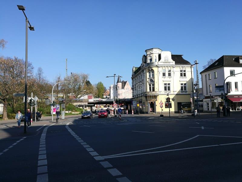 Sous le ` s Sun de ville de Recklinghausen images stock