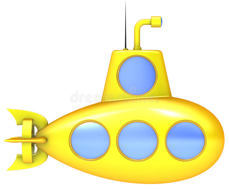 Sous-marin jaune illustration stock