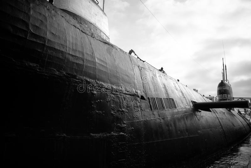 Sous-marin russe photo stock