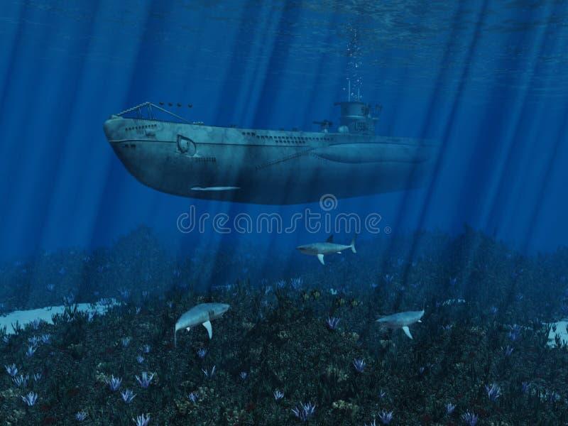 Sous-marin U99 illustration de vecteur