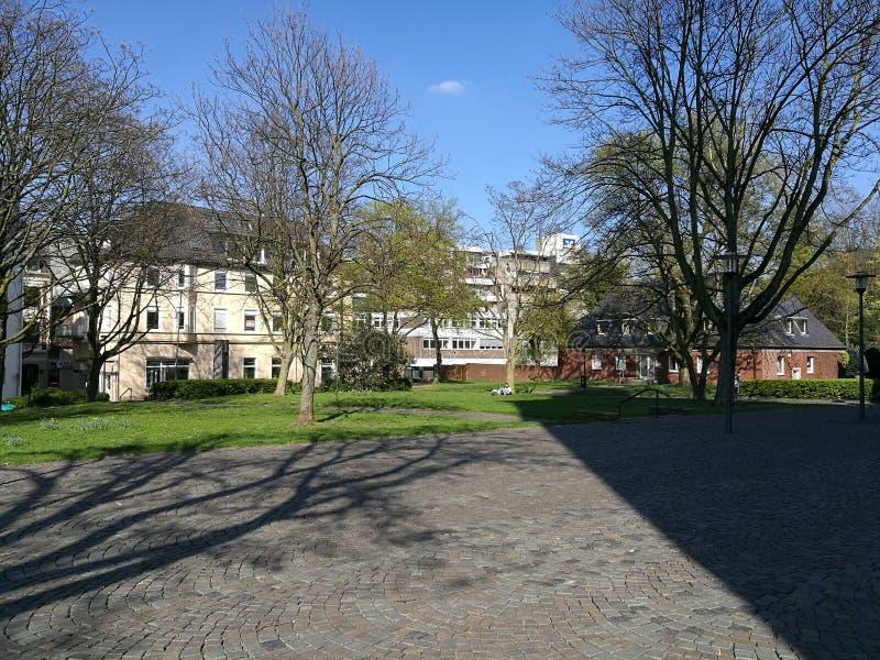 Sous Recklinghausen Sun en Allemagne photos stock