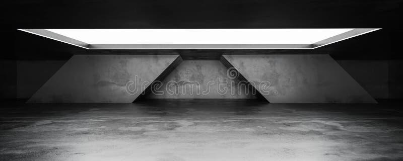 Sous-sol en béton souterrain avec sol en béton industriel léger de jour arrière-plan en béton 3d illustration illustration stock