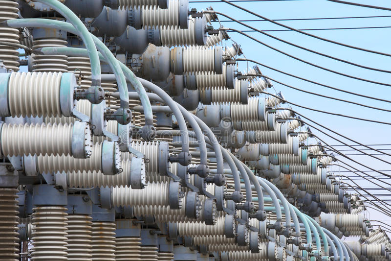 Sous-station électrique L'équipement de production d'électricité images stock
