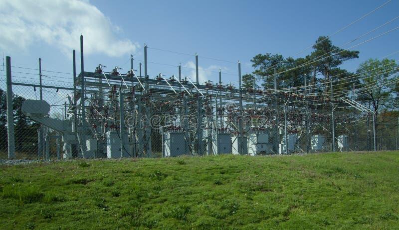 Sous-station de distribution électrique image libre de droits