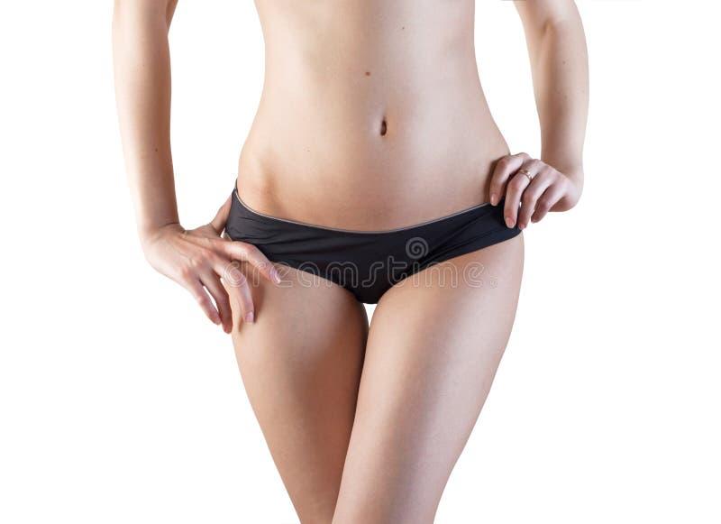 Sous-vêtements, corps mince de femme photos stock