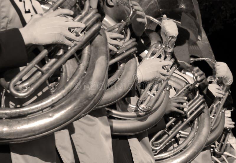 sousaphone γραμμών στοκ εικόνα