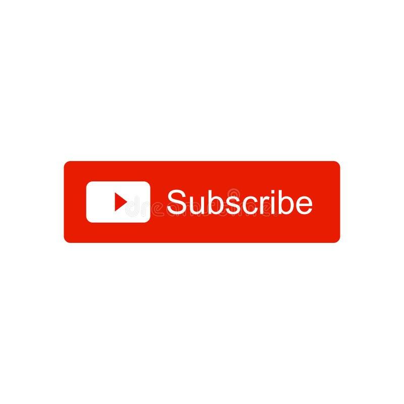 Souscrivez l'icône visuelle de bouton de canal Illustration de vecteur D'isolement sur le fond blanc illustration libre de droits