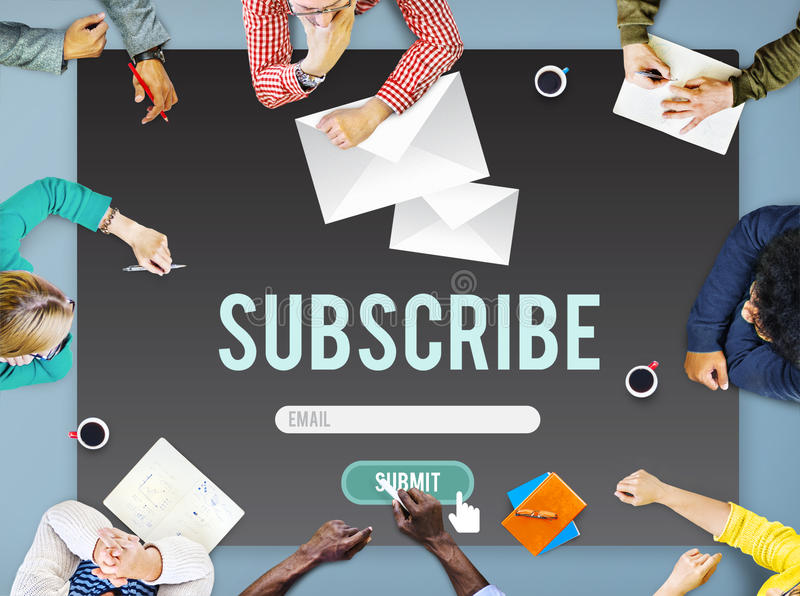 Souscrivez le concept de membre de communication de la publicité illustration stock