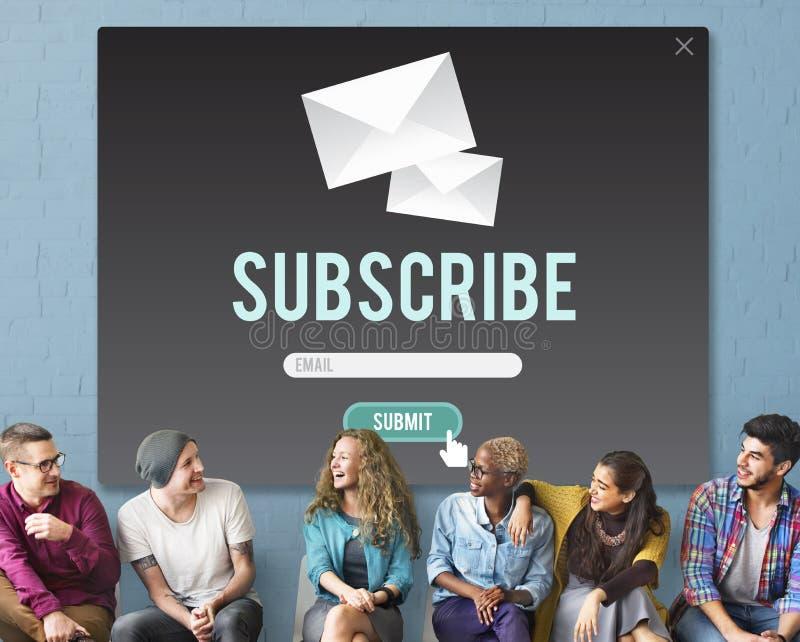 Souscrivez le concept de membre de communication de la publicité photos libres de droits
