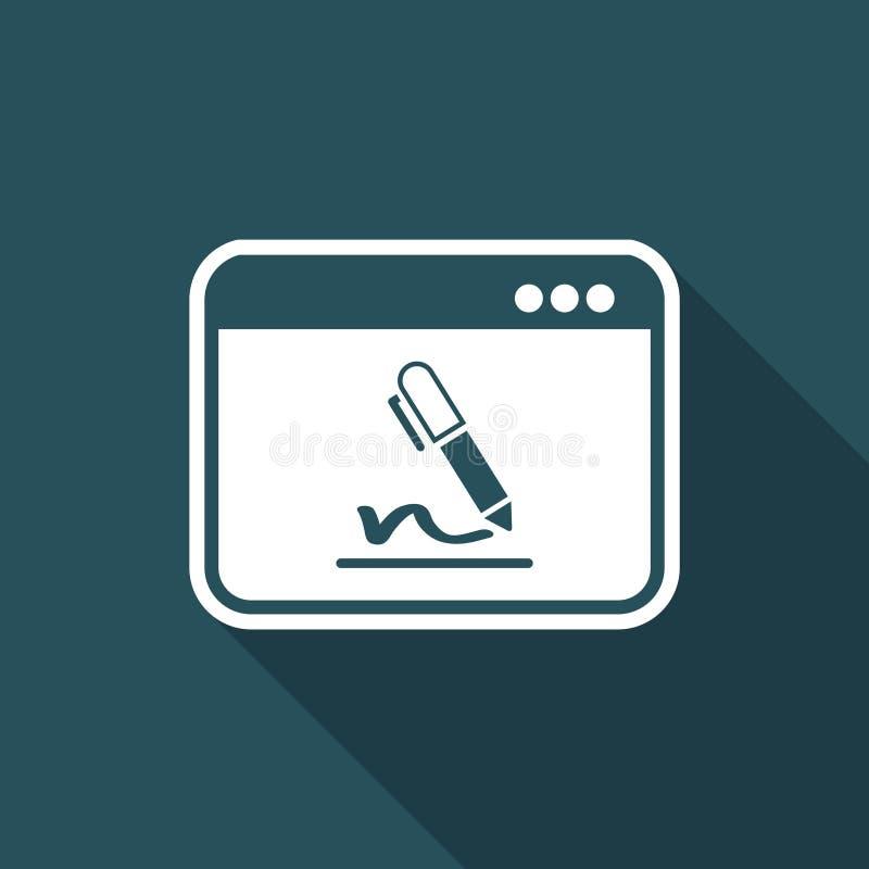 Souscrivez les termes et conditions - icône plate de vecteur illustration libre de droits