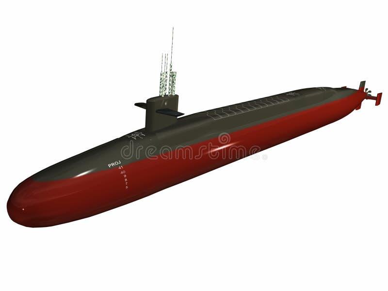 sousmarin nucléaire illustration de vecteur