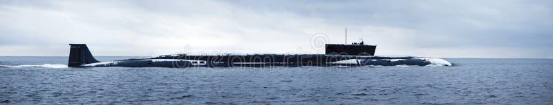 Sousmarin nucléaire russe image libre de droits