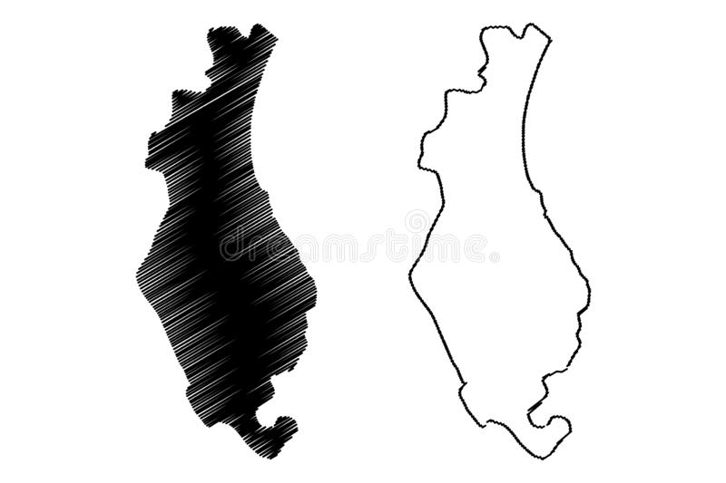 Sousse Governorate Governorates of Tunisia, Republic of Tunisia map vector illustration, scribble sketch Sousse map.  vector illustration