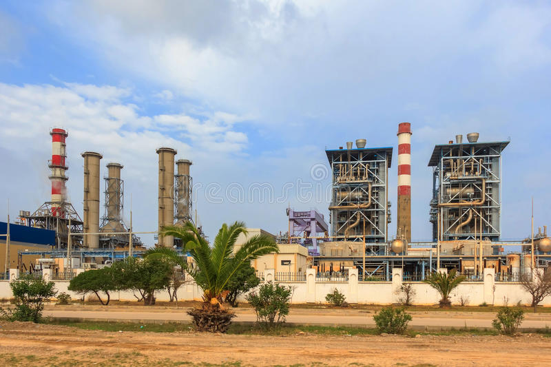 Sousse thermal power plant in Tunisia royalty free stock photo