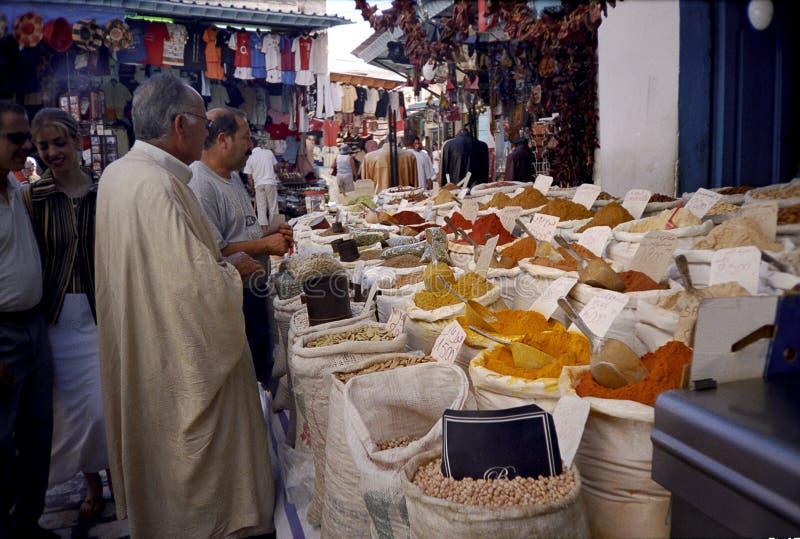 Sousse, Tunesië. De markt van het kruid. royalty-vrije stock foto
