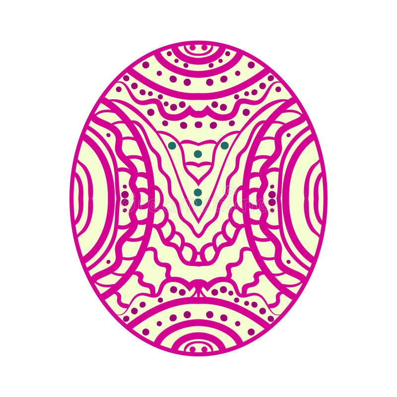Soustrayez l'image Zentangle coloré illustration de vecteur