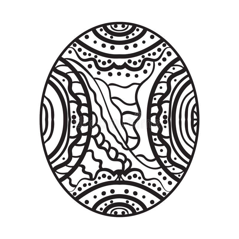 Soustrayez l'image Zentangle pour la peinture illustration stock
