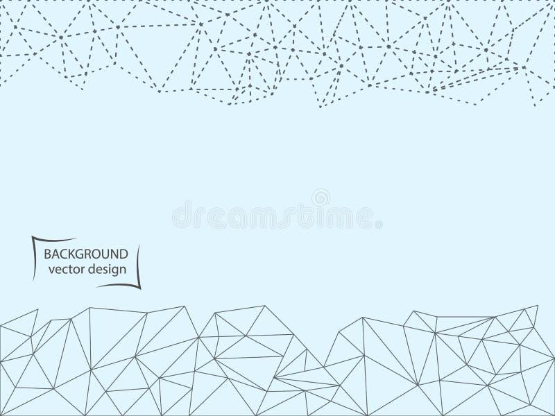 Soustrayez la ligne pointillée, et le polygone sur un fond clair Illustration de vecteur illustration de vecteur