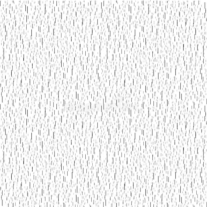 soustrayez le contexte stylisé de pluie, la texture en baisse de baisses de l'eau, courses verticales de noir sur le vecteur blan illustration libre de droits