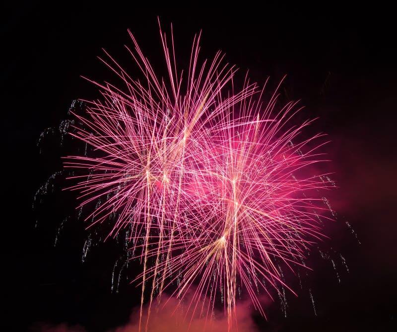 Soustrayez le fond coloré de feu d'artifice utilisé pendant la nouvelle année f de recouvrement photo stock