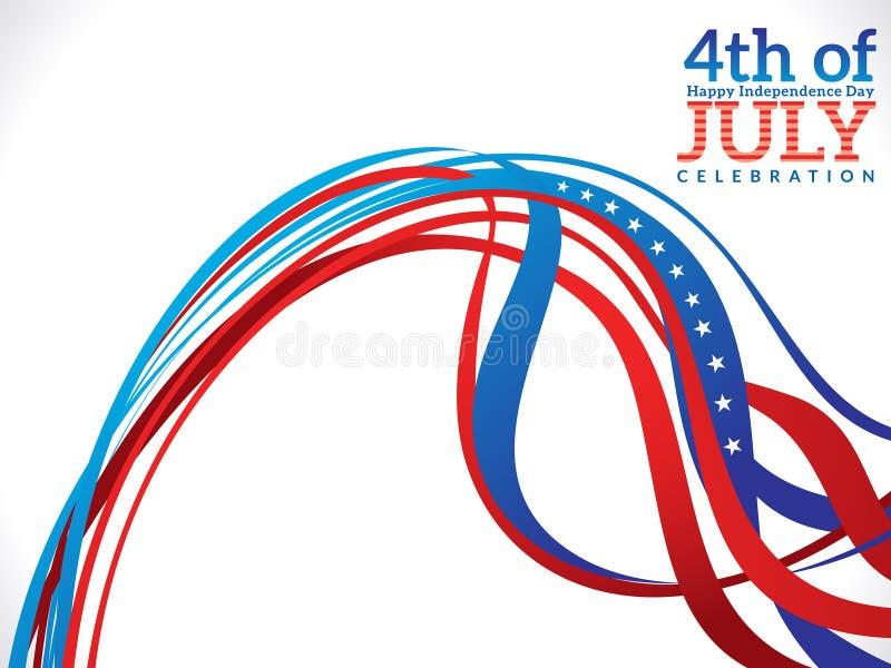 Soustrayez le fond de célébration du quatrième juillet illustration de vecteur