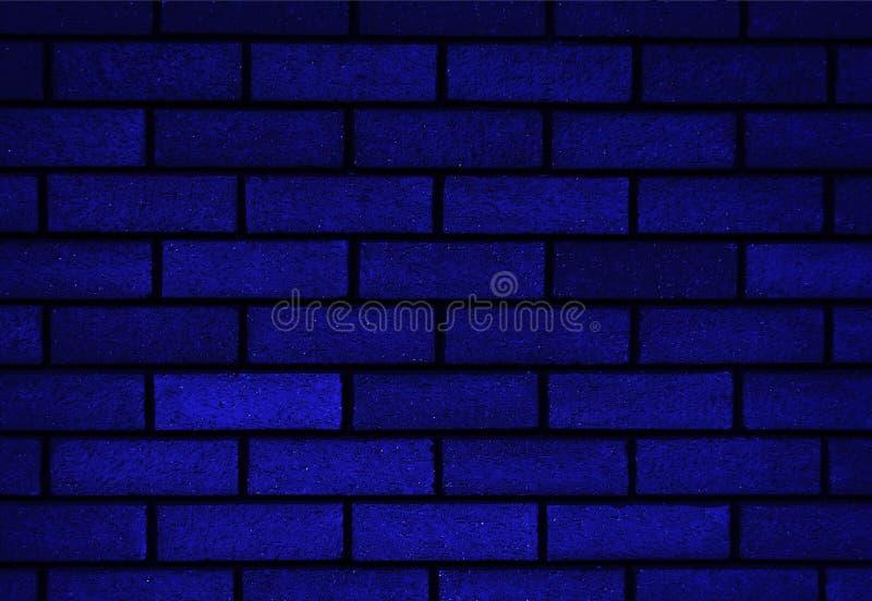 Soustrayez le vieux stuc souillé par texture superficiel par les agents gris-clair et avez vieilli le fond bleu de mur de briques photos stock
